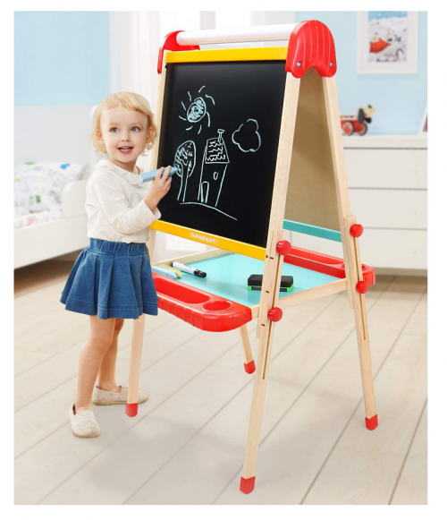 TOP BRIGHT Wooden Art Easel for Kids 2