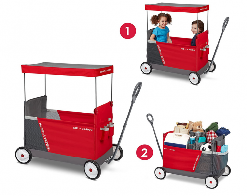 Radio Flyer Kid & Cargo with Canopy 2
