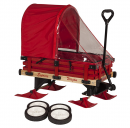 Millside Industries Sleigh Wagon with Red Wooden Racks
