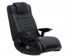 X Rocker Pro Series H3 Black Leather Vibrating Gaming Chair
