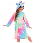 Soft Unicorn Hooded Bathrobe Gifts for Girls