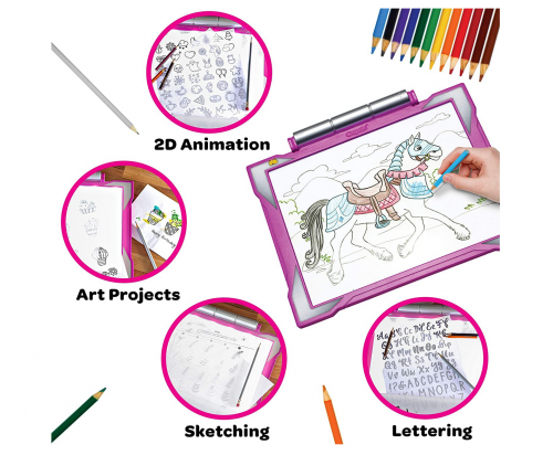 Crayola Light Up Tracing Pad Pink features