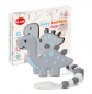 Dinosaur Teether Pain Relief Toy with Pacifier Clip Holder