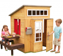 KidKraft Modern Outdoor Wooden Playhouse with Picnic