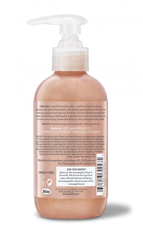 Bliss Rose Gold Rescue Cleanser 2