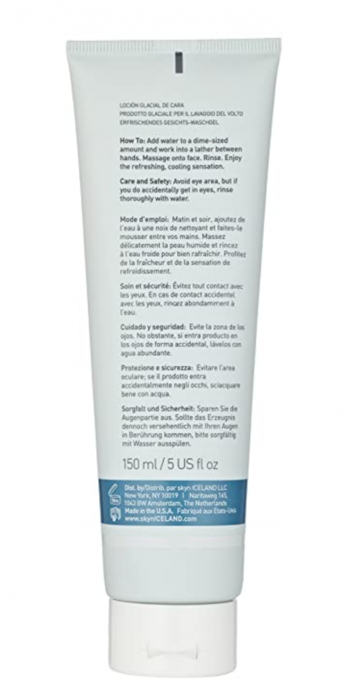 skyn ICELAND Glacial Face Wash ingredients