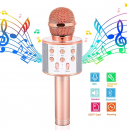 Microphone Gift Age 5 – 12 Girls Kids, Wireless Karaoke Microphone Toy