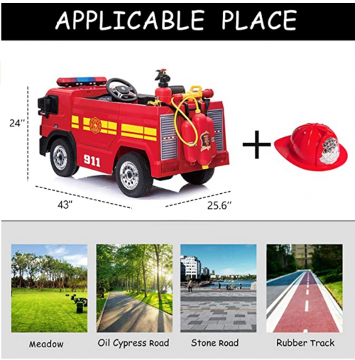 kidsclub Ride On Fire Truck Toy specs