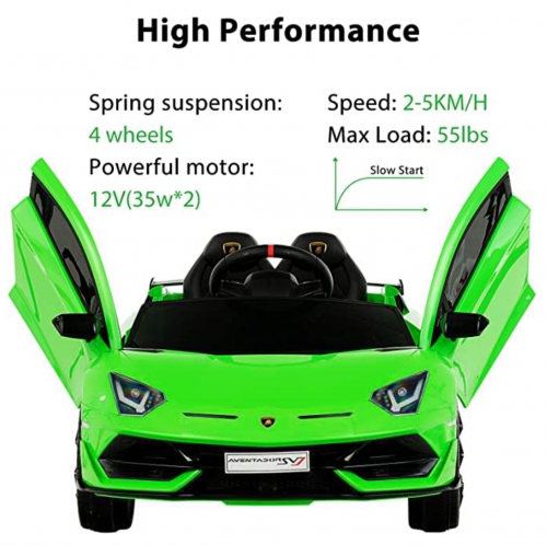 Uenjoy 12V Kids Electric Ride On Car Lamborghini 3