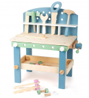 Small Foot Wooden Toys Compact Nordic Workbench Complete playset Designed for Children Ages 3+ Years