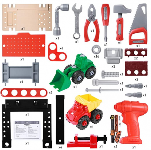 iBase Toy Kids Tool Bench, 91 Pieces Toy Workbench