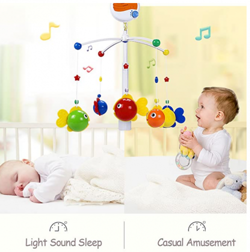 Fisca Baby Musical Crib Mobile 2