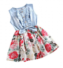 MingAo Little Girls Denim Floral