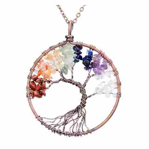 sedmart tree of life pendant christmas gifts for mom crystal