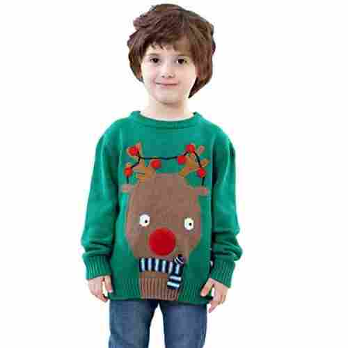 shineflow kids rudolph sweater christmas sweater