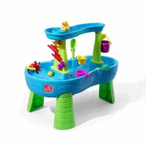 step2 rain showers splash water & sand table for kids and toddlers