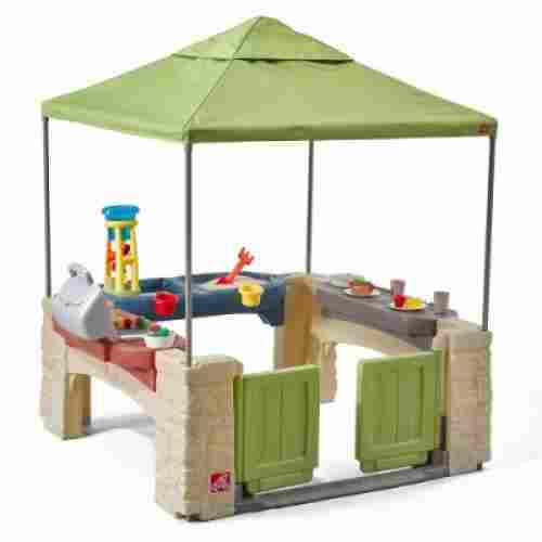 All Around Playtime Patio with Canopy Playhouse