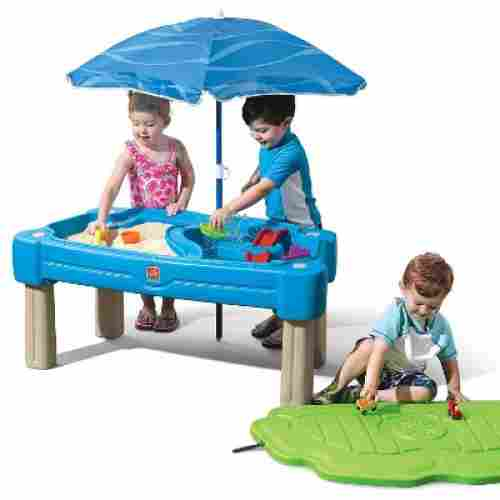 step2 cascading cove water & sand table for kids and toddlers