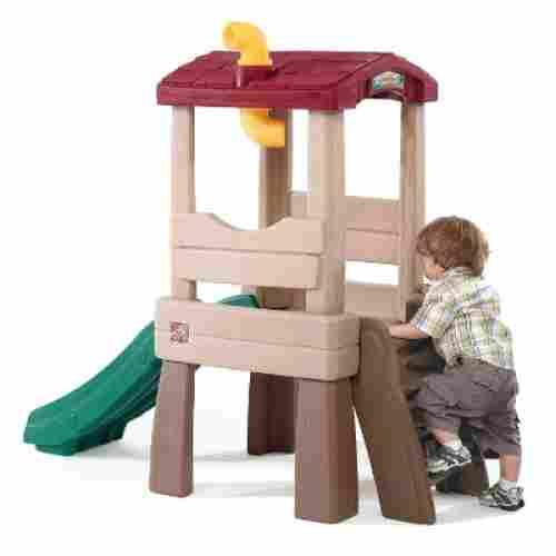 naturally playful lookout treehouse indoor toddler slide