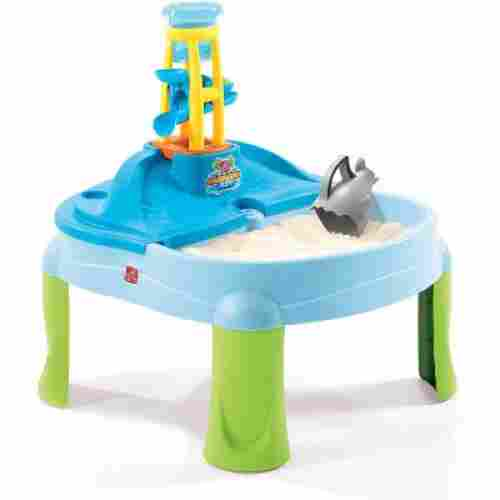 step2 splash n scoop bay water & sand table for kids and toddlers