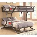Gunmetal Bunk Bed by Coaster Home Furnishings