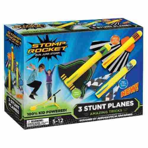 stomp rocket stunt planes flying toy box