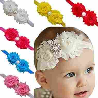 TANZKY 10-Piece Baby Girl Elastic Flower Hair Bands