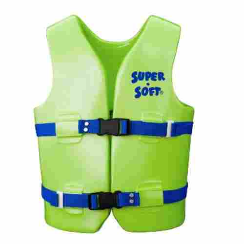 TRC recreation super soft USCG swim vests and life jackets for kids and toddlers green