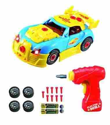 Take Apart Toy Racing Car Kit For Kids by Think Gizmos