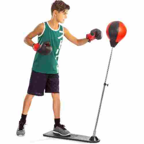 techTools ball with stand and gloves punching bag for kids