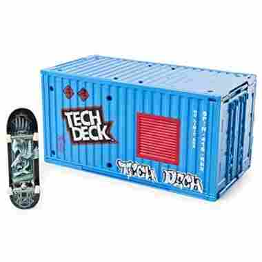 Transforming Container with Ramp and Skateboard