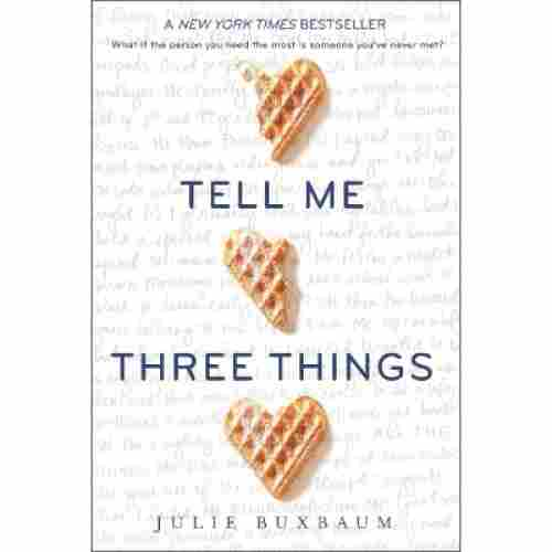 tell me three things book for teens cover