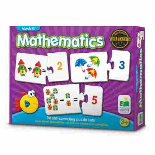 match it! mathematics 30 pieces jigsaw puzzle for kids box