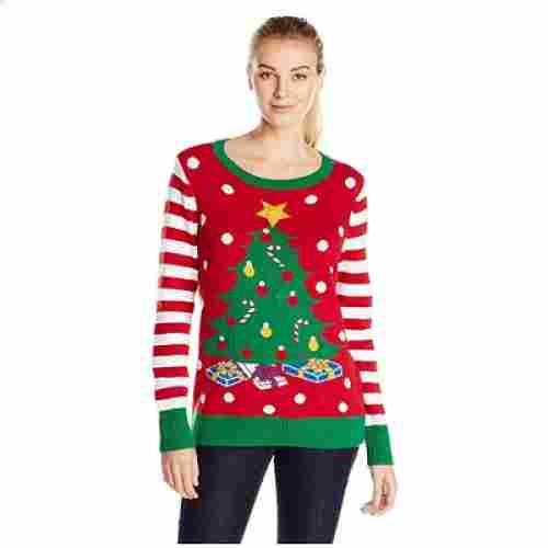 the ugly holidays light up christmas sweater look