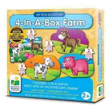 4-In-A-Box Farm Puzzle by The Learning Journey