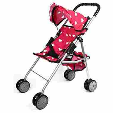 The New York Doll Collection Doll Stroller with Basket