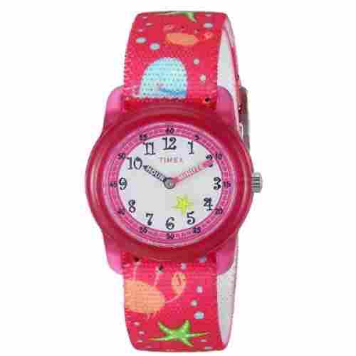 timex girls time machines pink watch for kids