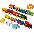 ToysOpoly 12 PCS Magnetic Engines With 3 Bonus Animals