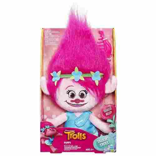 Trolls Poppy Talkin' Troll Plush Doll