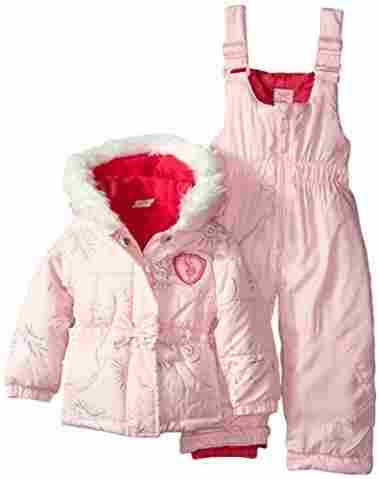Pink Baby Snow Suit