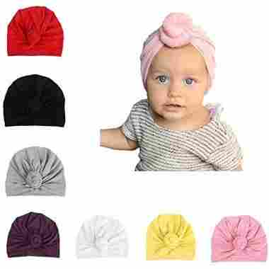 Udobuy 7 Pcs Headband Baby Hat