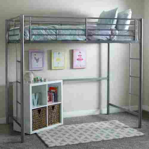 Twin Metal Loft Bed by WE Furniture