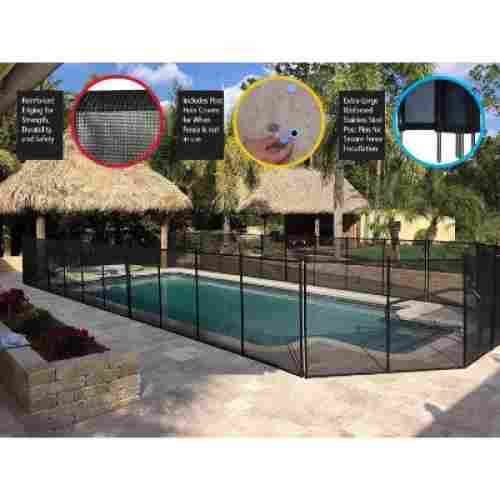 XtremepowerUS 4' X 12' Best Pool Fences display