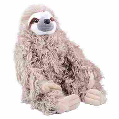 Wild Republic Three Toed Sloth Plush, Stuffed Animal