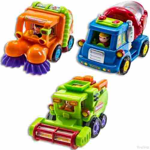 wolvol push and go friction toy cars