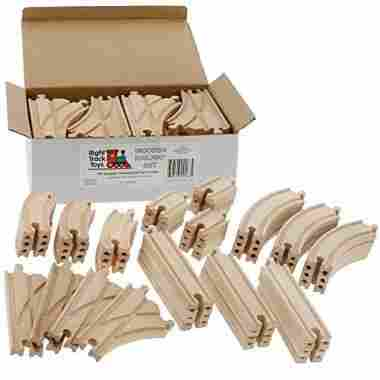 Wooden Train Track Set 52 Piece Pack