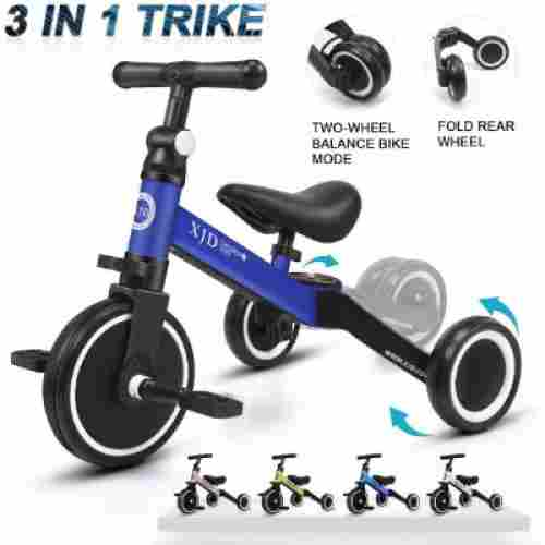 XJD 3 in 1 Tricycle big wheels for kids display