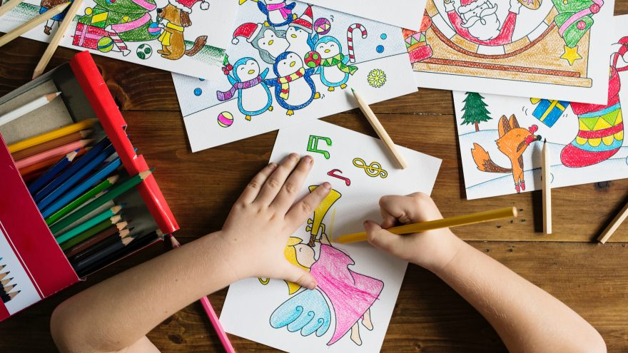 The post answers the question of what we can learn from our kids' drawing.