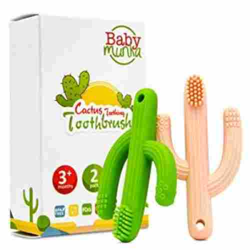 baby munka cactus teether baby & toddler toothbrush
