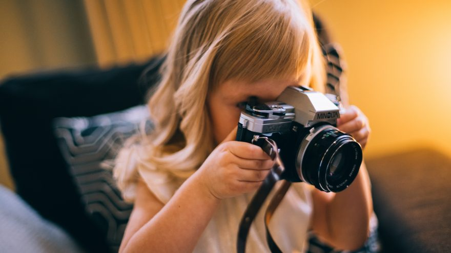 The post answers the question why you should let your kids use camera, get creative and start taking some photos.